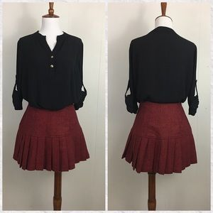 French Connection Pleated Fit & Flare Mini Skirt